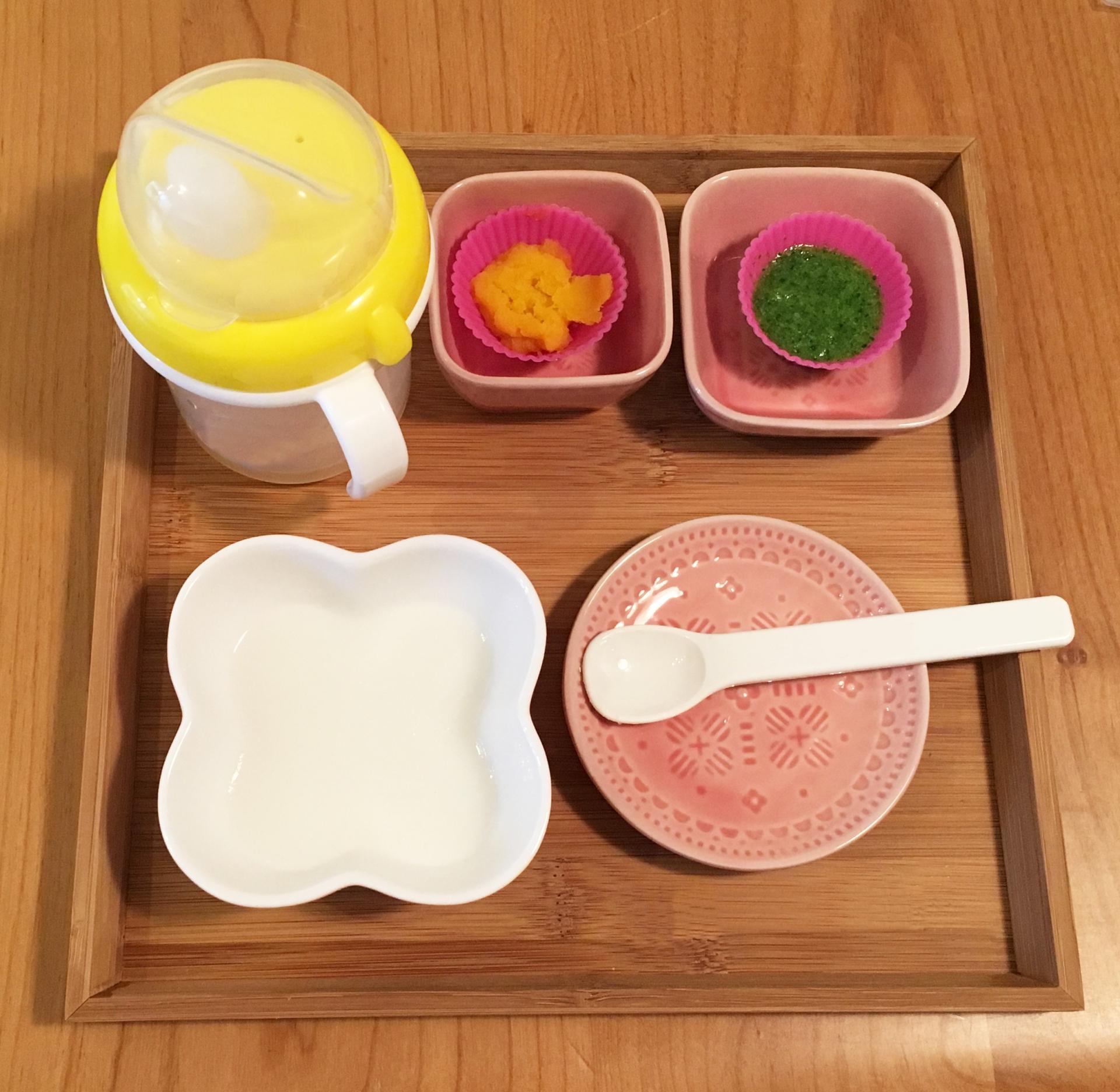 離乳食初期(5~6ヶ月ごろ)におすすめレシピとは。この時期に食べられる食材別にご紹介