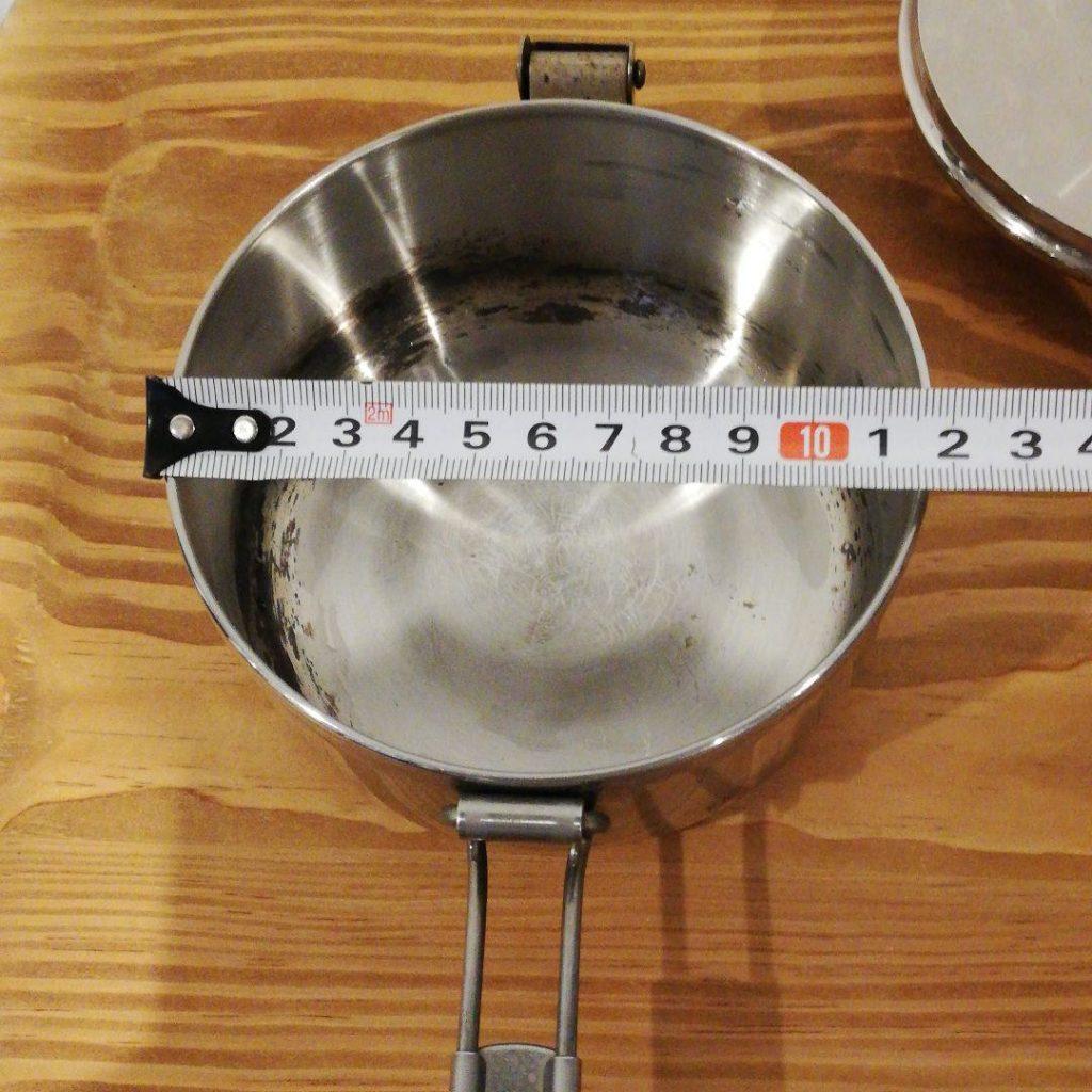直径は12~17センチ程度の片手鍋が便利